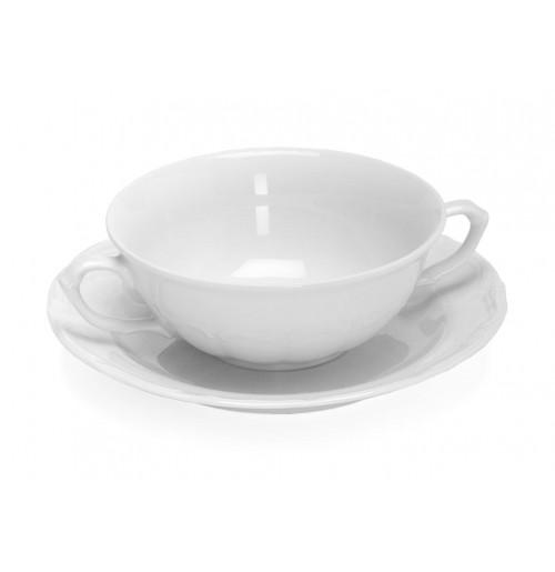 Бульонница/чаша суповая с блюдцем 250 мл Maria Teresa, шпатовый фарфор