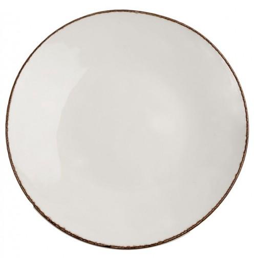 Тарелка Fortuna 30 см бежевая, керамика