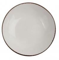 Тарелка Fortuna 22.5 см, бежевая, керамика