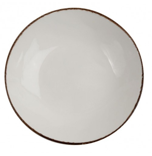 Тарелка Fortuna 17 см бежевая, керамика