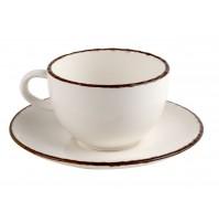 Набор Espresso Fortuna: чашка 100 мл и блюдце 13.5 см бежевый, керамика
