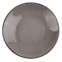 Тарелка Fortuna 17 см серая, керамика