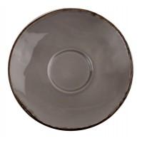 Блюдце 16.4 см Capuccino Fortuna (к чашке 31015), серое, керамика