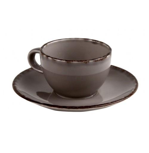 Набор Cappuccino Fortuna: чашка 300 мл и блюдце 16.4 см серый, керамика