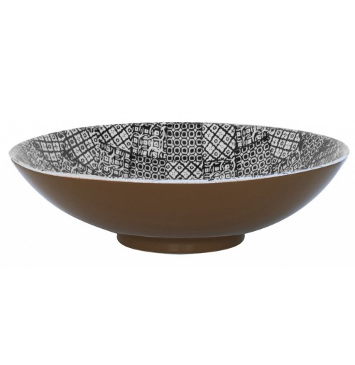 Салатник  35 см  Minerva черный, керамика
