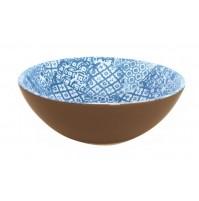 Салатник-пиала  18 см  Minerva  синяя, керамика
