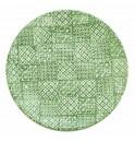 Тарелка  27.5 см  Minerva зеленая, керамика