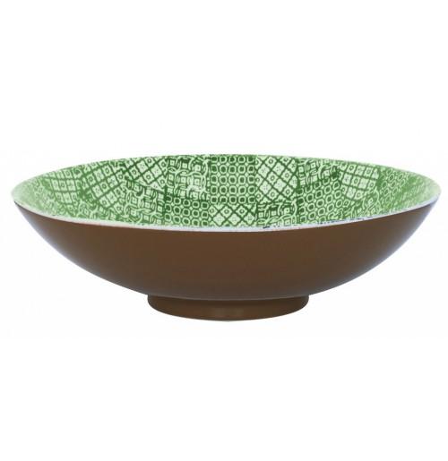 Салатник  35 см  Minerva зеленый, керамика