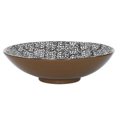 Салатник  40 см  Vesta черный, керамика
