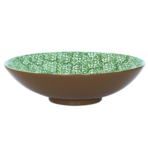 Салатник  35 см  Vesta зеленый, керамика