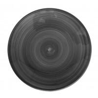 Тарелка  22 см  Ceres черная, керамика