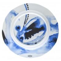 Тарелка Juno D 27.5 см синяя, шпатовый фарфор