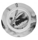 Тарелка Juno D 19.5 см серая, шпатовый фарфор