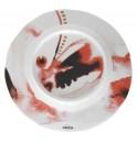 Тарелка Juno D 19.5 см красная, шпатовый фарфор
