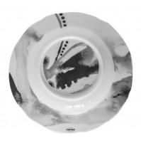 Тарелка глубокая Juno D 23 см серая, шпатовый фарфор