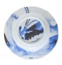 Тарелка глубокая Juno D 23 см синяя, шпатовый фарфор