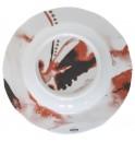 Тарелка глубокая Juno D 23 см красная, шпатовый фарфор