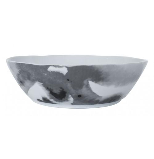 Салатник Juno D 24 см  серый, шпатовый фарфор