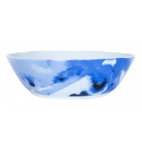 Салатник Juno D 24 см синий, шпатовый фарфор