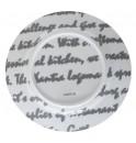 Тарелка Mars D 23 см серая, шпатовый фарфор