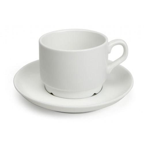 Набор Kaffe Duro: чашка  180 мл и блюдце 13.5 см, костяной фарфор
