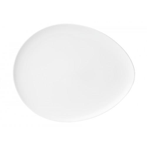 Блюдо капля 38х32 см , костяной фарфор