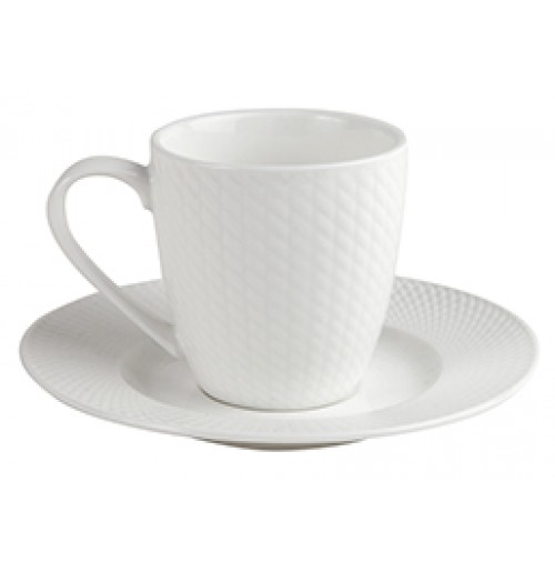 Набор Kaffe Victoria: чашка 170 мл и блюдце 15 см, костяной фарфор