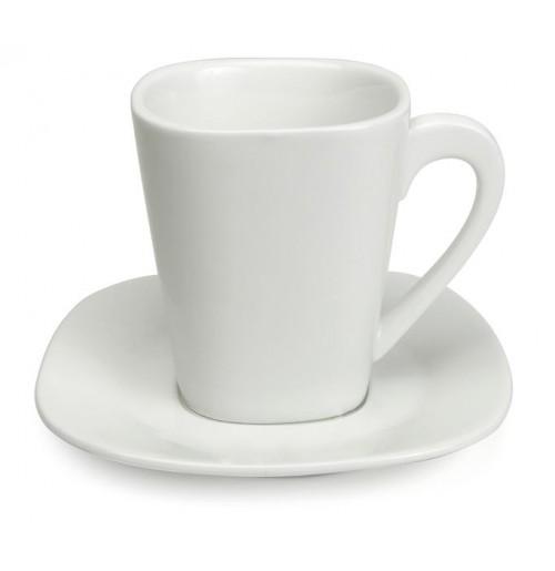 Набор Kaffe Madrid: чашка 220 мл и блюдце 13.5 см, костяной фарфор