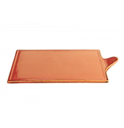 Блюдо для сыра 21х35 см Seasons оранжевое, фарфор