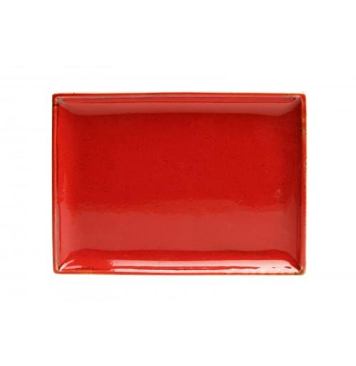 Блюдо прямоугольное 18х13 см Seasons красное, фарфор