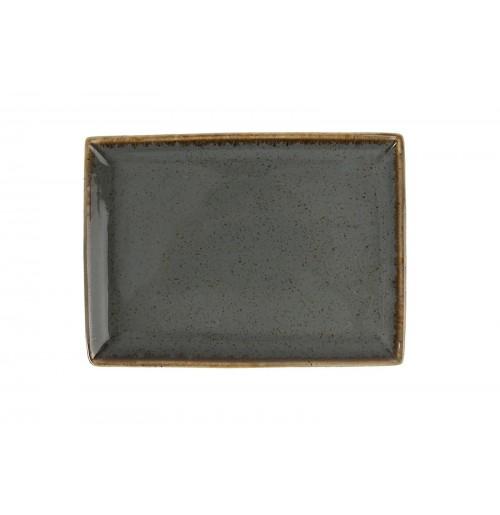 Блюдо прямоугольное 18х13 см Seasons темно-серое, фарфор