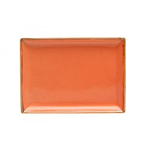 Блюдо прямоугольное 18х13 см Seasons оранжевое, фарфор