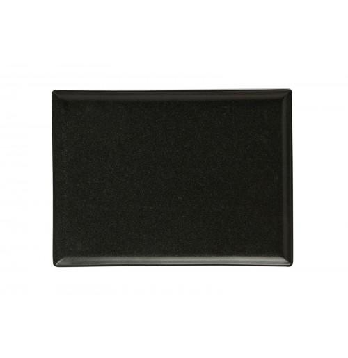 Блюдо прямоугольное 27х21 см Seasons черное, фарфор