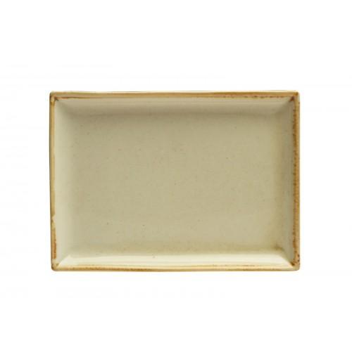 Блюдо прямоугольное 27х21 см Seasons желтое, фарфор