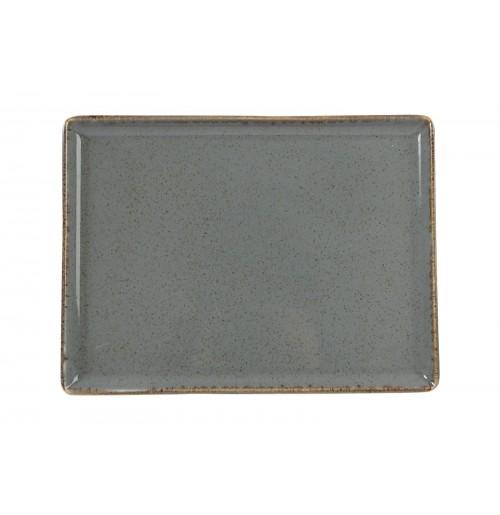Блюдо прямоугольное 27х21 см Seasons темно-серое, фарфор