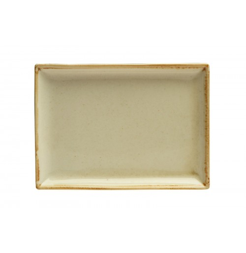 Блюдо прямоугольное 35х26 см Seasons желтое, фарфор