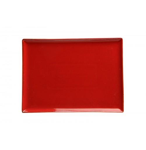 Блюдо прямоугольное 35х26 см Seasons красное, фарфор