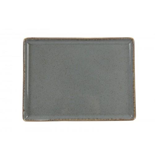 Блюдо прямоугольное 35х26 см Seasons темно-серое, фарфор