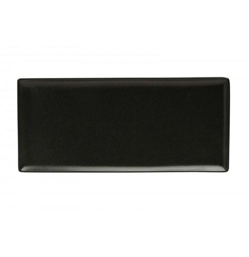Плато прямоугольное 35х16 см Seasons черное, фарфор
