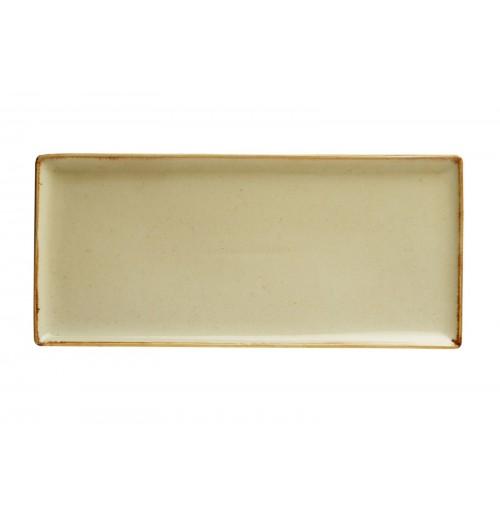 Плато прямоугольное 35х16 см Seasons желтое, фарфор