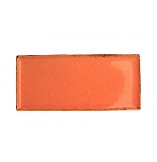 Плато прямоугольное 35х16 см Seasons оранжевое, фарфор