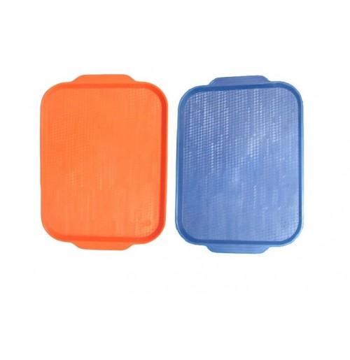 Поднос 45*35,5см. оранжевый ОСОБО ПРОЧНЫЙ, полистирол