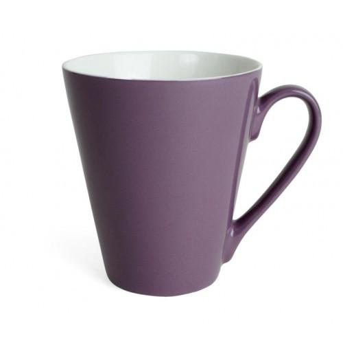 Кружка Attila 200 мл фиолетовая/белая, керамика