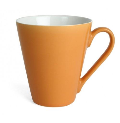 Кружка Attila 200 мл оранжевая/белая, керамика
