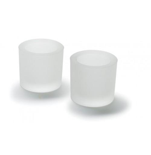 Подсвечник круглый 2 шт., матовое стекло