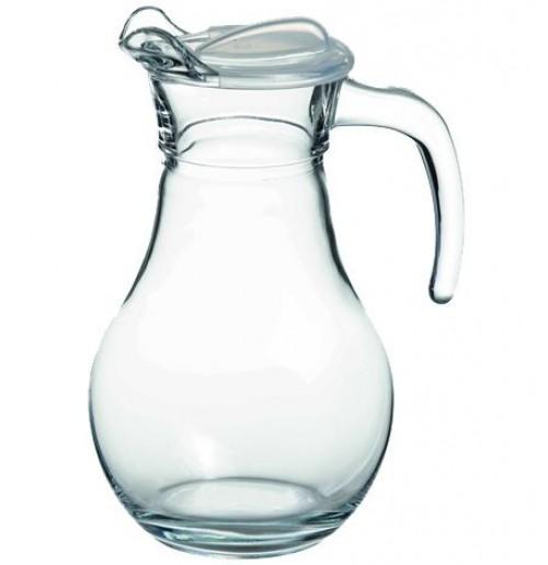 Кувшин 1 л с прозрачной крышкой Бистро, стекло, стекло