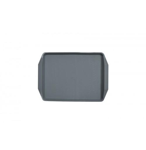 Поднос 42*30см темно-серый, полипропилен