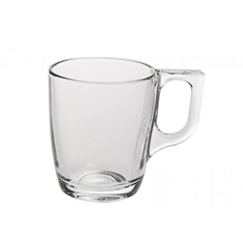 Чашка Kaffe Voluto 250 мл (блюдце 52928), калёное стекло