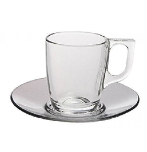 Набор Espresso Voluto: чашка 90 мл и блюдце 12 см, каленое стекло