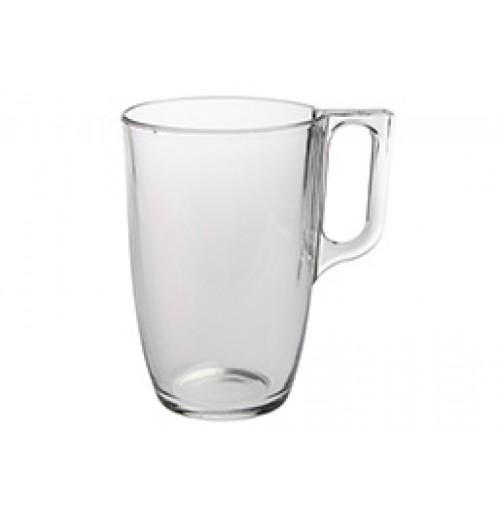 Кружка Kaffe Voluto 400 мл (блюдце 52928), калёное стекло